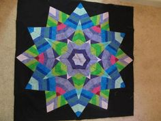 Making a Ricky Timms Kool Kaleidoscope Quilt - step by step progress pictures - see the quilt come together!