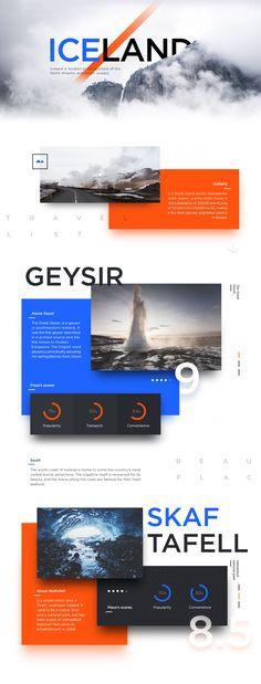 Iceland Cards Ui design by buatoom.