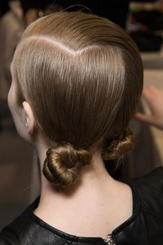 Hair Trend - Sleek knots provided a twist on the classic chignon at Christian Dior A/W 2016