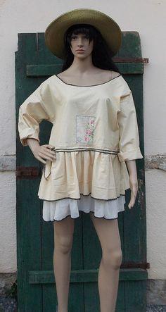Dress tunic ruffle country style fashion by AtelierJoanVilem