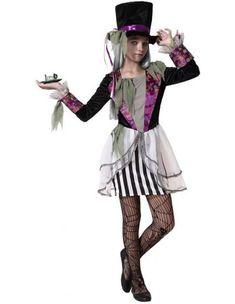 Disfraz de Sombrerera Zombie para Niña | Comprar Online
