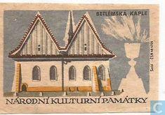 Matchcovers - Fabrieksmerk - Betlemska kaple Buildings, Stamps, Catalog, Houses, Draw, Cover, Stuff To Buy, Painting, Vintage
