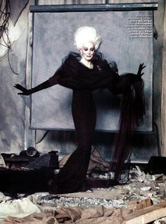 Carmen Dell'Orefice for Vanity Fair Italia. She's all kinds of amazing. I have no words.