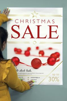 Get ready for the biggest sales period of the year with free Christmas sale print marketing designs from instantprint. Available for posters, stickers, gift vouchers and flyers, we've got everything you need for a very merry Christmas sale campaign. Classic sale red with a festive gold touch, this free design template is a great way to spread some joy and get customers excited for your deals. Very Merry Christmas, Christmas Sale, Xmas, Gold Touch, Sale Campaign, Gift Vouchers, Sale Poster, Free Prints, Design Templates
