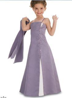 2015 Sleeveless Ruched Satin Spaghetti Straps Floor Length Flower Girl Dresses By Alexia FGD8