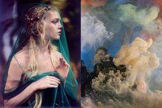 "Sasha Pivovarova en Vogue, octubre 2007, /  ""Abstract 8561"" de Kim Keever"