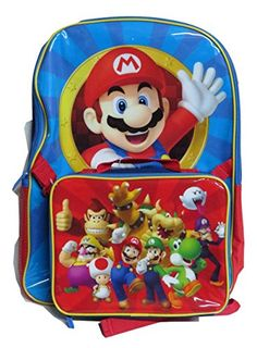3eb8b26538fa Super Mario 16 Inch Backpack with Lunch Box Nintendo http   www.amazon