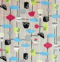 50s fabric Marian Mahler - picture festival of britain