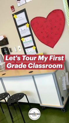 First Grade Classroom, Future Classroom, School Classroom, Classroom Decor, Backpack Storage, Classroom Management Strategies, Back To School, School Stuff, Teaching Tips