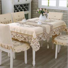 유럽 폴리 에스터 식탁보 자수 식탁보 광장 꽃 홈 호텔 웨딩 테이블 장식 toalha 드 메사