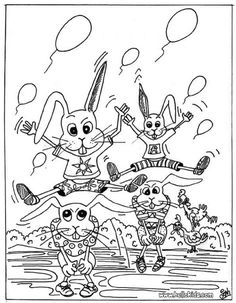 Rabbits Coloring Page Cute And Amazing Farm Animals For Kids More Sheets On Hellokids