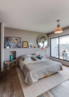 Chambre à coucher Appartement parisien de 140m2- GCG Architectes
