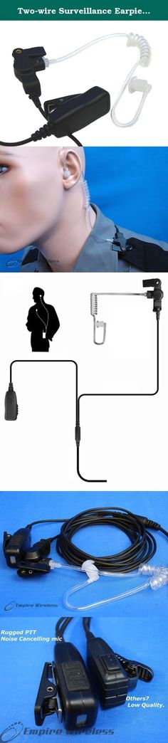 Headset for Security and Surveillance Handheld Push-to-Talk Mic Compatible with Motorola BC130 Replacement for Motorola BC130 Two-Way Radio Shoulder Speaker Microphone PTT
