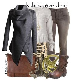 """Katniss Everdeen (The Hunger Games)"" by claucrasoda ❤ liked on Polyvore featuring BKE, Frye, Free People, Acne Studios, KC Designs, George Frost and MJUS"