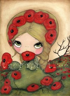 Poppy PrintPoppy Monger by thepoppytree on Etsy, $18,00