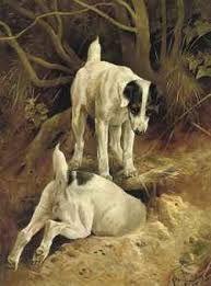 Rabbiting by Arthur Wardle (1864-1949)