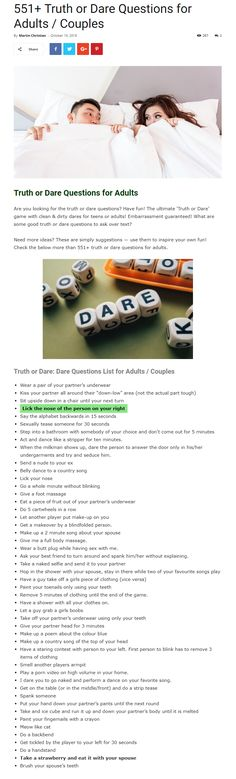 The 42 Best Truth Or Dare Questions Images On Pinterest Personal