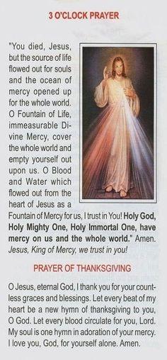 3 O'Clock Prayer Divine Mercy: