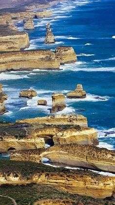Shipwreck Coast of Victoria, Australia stretches from Cape Otway to Port Fairy.  ** Stunning scenery!