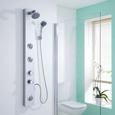 The Hudson Reed thermostatic shower panel delivers a superb showering experience