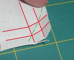 Tutorial: Mitred Corners on a Linen Square – Needle'nThread.com
