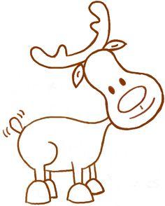 cartoon reindeer - Google Search