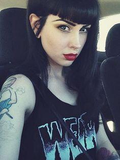 Ashley Holat, an American social media model, a.k.a. Arwen Suicide; Ash Lascivious; dametualma