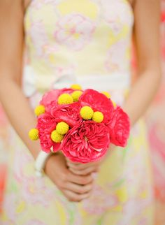 pink peony + billy ball #bouquet | KT Merry #wedding