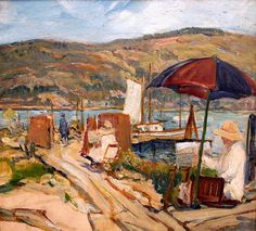 Summer Session in Ballast Point, San Diego, oil, Charles Reiffel, 1930