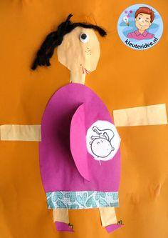 Zwanger, moeder knutselen met baby, Kindergarten craft, pregnant mother 2
