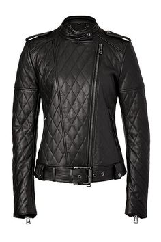 I simply love it! BELSTAFF - Black Leyton Quilted Leather Jacket