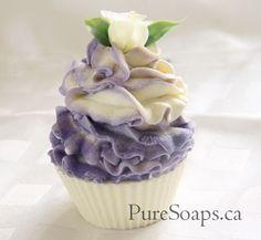 floral cupcake soap