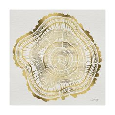 Tree Rings in Gold Giclee Print by Cat Coquillette at Art.com