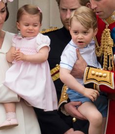 The Little Prince & Princess Watch The Fly Past