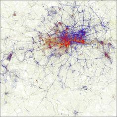 Metropolis map of the world at a glance the difference in behavior patterns of locals and travelers - DNA