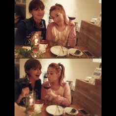 """Taeyeon and Sooyoung.. :3 """"taeyeon_ss: With my lovely SY"""" #Taengstagram #130403 #Girls'Generation #KidLeader #Shikshin"""