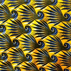 African wax block print fabric The Annual Orlando African Fashion Show (OAFS African Textiles, African Fabric, African Patterns, Ankara Fabric, Motifs Textiles, Textile Patterns, Design Patterns, Design Textile, Textile Prints
