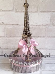 Paris Centerpiece Silver and Pink Eiffel Tower Centerpiece Paris Birthday Parties, Birthday Party Themes, 10th Birthday, Eiffel Tower Centerpiece, Paris Theme Centerpieces, Tall Centerpiece, Paris Baby Shower, Parisian Party, Sweet 16 Decorations