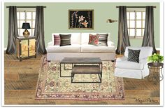 Same furniture and curtains, two different looks - interior decorating - thenolaruth - story board