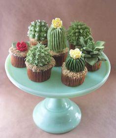 Assuntos Criativos: Cupcake de Cactus