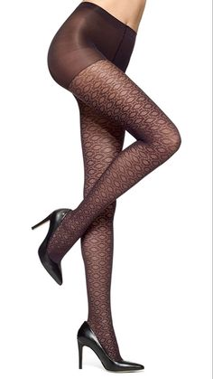 HUE Circular Dot Sheer Hosiery - See more tights at www.fashion-tights.net ‪#tights #pantyhose #hosiery #nylons #fashion #legs‬ #legwear #advertising #influencer #collant