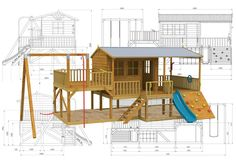 The awesome Panda Pack #cubbyhouse has got everything you could ever need for fun and exercise including a cubby house with a covered porch and a veranda, a slide, rock climbing wall, fireman's pole, swing and plenty of space underneath for a #sandpit! Wow! http://www.cubbykraft.com/cubbyhouses/panda-pack-kids-gym.htm