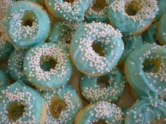 Tiffany Blue Mini Donuts- Perfect for the morning of the wedding