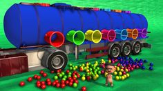 Learn Colors With Oil Tank Colored Balls dropping Educational Kid Video | Learning Vehicles for kids https://youtu.be/P06gnavqjmY