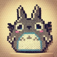 Totoro hama beads by melorollin