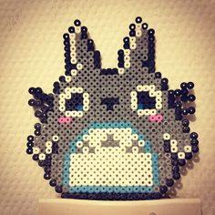 Totoro hama beads by melorollin