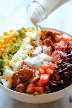 BBQ Chicken Cobb Salad - High-Protein Low-Carb Recipes