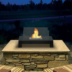 Outdoor Fireplace, Gramercy made by Anywhere Fireplace.