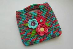 Crochet little, flower bag
