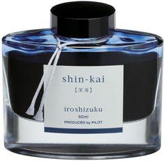 Pilot Iroshizuku Bottled Fountain Pen Ink, Shin-Kai, Deep Sea, Blue Black (69225) Pilot http://www.amazon.com/dp/B00AEUWPD6/ref=cm_sw_r_pi_dp_MiXUub1012K3H